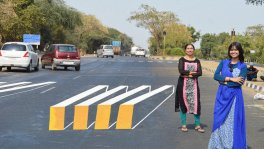 3D Zebra Crossing - Art for road safety in India